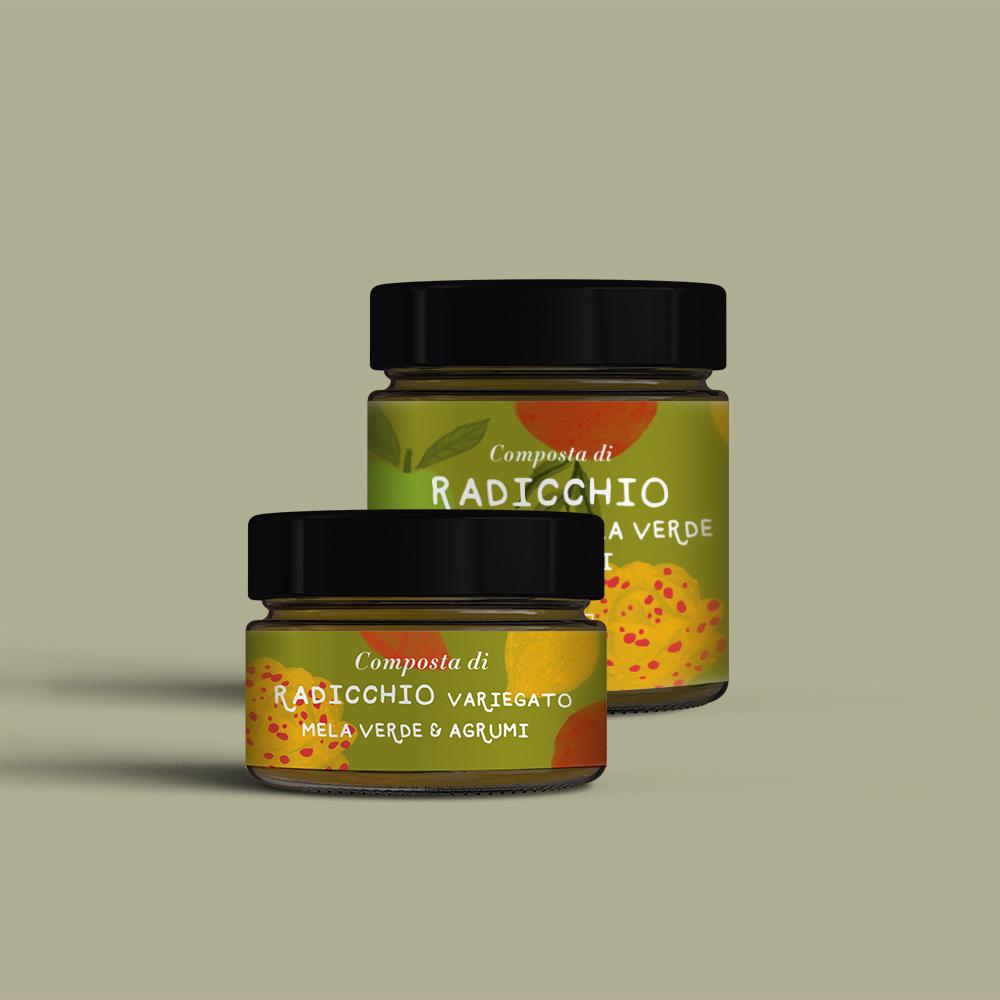 Composta di Radicchio Variegato, Mela Verde e agrumi