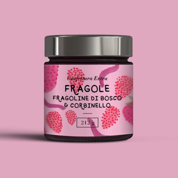 Confettura-Fragole-fragoline-di-bosco-e-corbinello-Casa-sulla-Collina